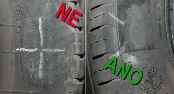 Obrázek - rozdíly v opravě pneumatiky termopressem.